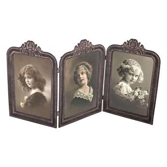 Metalowa ramka na 3 zdjęcia, 37,5x19,5 cm