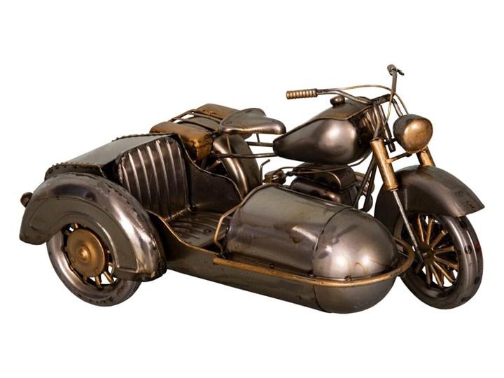 Dekoracja z żelaza w kształcie motoru z wózkiem bocznym Antic Line Moto, 27x19 cm