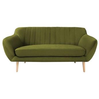 Zielona aksamitna sofa Mazzini Sofas Sardaigne, 158 cm