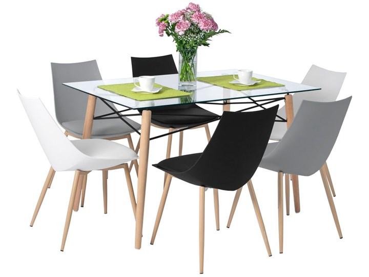 Komplet mebli do jadalni stół 120 cm LUNA i 6 krzeseł SARA z poduszką