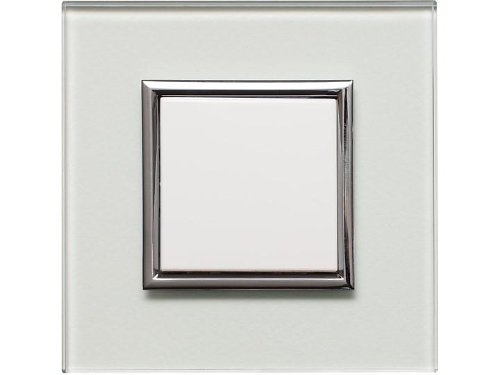 KOS DANTE Creative Glass. Ramka do włącznika lub gniazda elektrycznego, szkło naturalne transparentne Metal Kategoria Ramy i ramki na zdjęcia