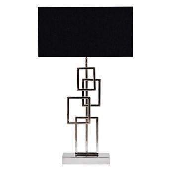 Ekskluzywna srebrna lampa w stylu glamour MILI