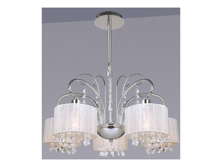 Lampa wisząca Span MDM1583/5 WH ITALUX MDM1583/5 WH Lampa z kryształkami Metal Tkanina Kryształ Ilość źródeł światła 5 źródeł
