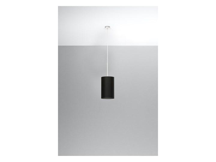 Lampa wisząca OTTO 15 czarna SL.0742 SOLLUX SL.0742 Kolor Czarny Metal Tkanina Stal Szkło Styl Nowoczesny