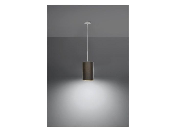 Lampa wisząca OTTO 15 czarna SL.0742 SOLLUX SL.0742 Stal Metal Szkło Tkanina Kolor Czarny