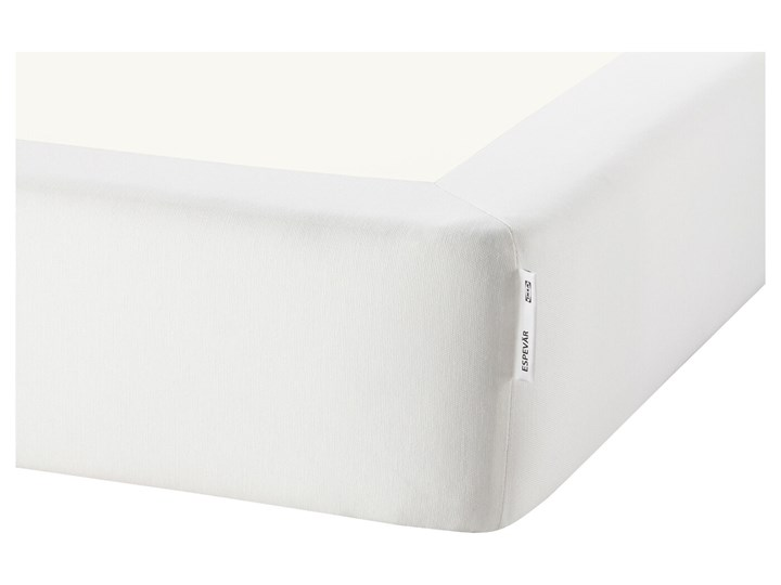 IKEA ESPEVÄR/VESTMARKA Łóżko kontynentalne, biały/twardy jasnoniebieski, 90x200 cm Kategoria Łóżka do sypialni Pojemnik na pościel Bez pojemnika