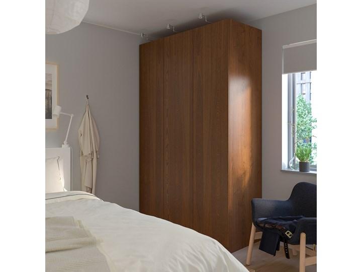 IKEA PAX Szafa, imitacja okleiny bejc na brąz/Forsand imitacja okleiny bejc na brąz, 150x60x236 cm Płyta laminowana Głębokość 60 cm Szerokość 150 cm Wysokość 236,4 cm Kolor Brązowy