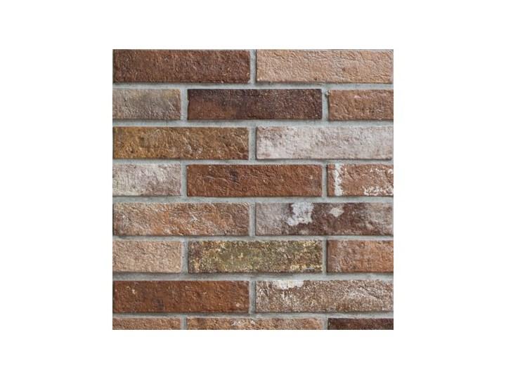 Rondine Bristol Red Brick 6x25 Płytka ścienna matowa Kwadrat 6x25 cm Płytka ceglana Płytki elewacyjne Płytki ścienne Płytki tarasowe Wzór Cegła