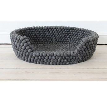 Antracytowe kulkowe wełniane legowisko dla zwierząt Wooldot Ball Pet Basket, 40x30 cm