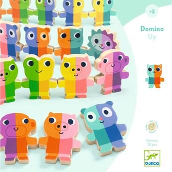 Dziecięce domino drewniane 3D Djeco