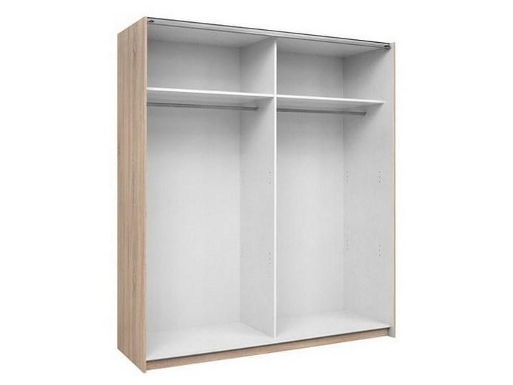 Szafa F27 170 - Kolor: Dąb Sonoma - Black Red White - BRW Drewno Metal Pomieszczenie Garderoba