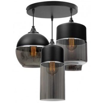 Nowoczesna Lampa z Metalu i Szkła o Trzech Źródłach Światła