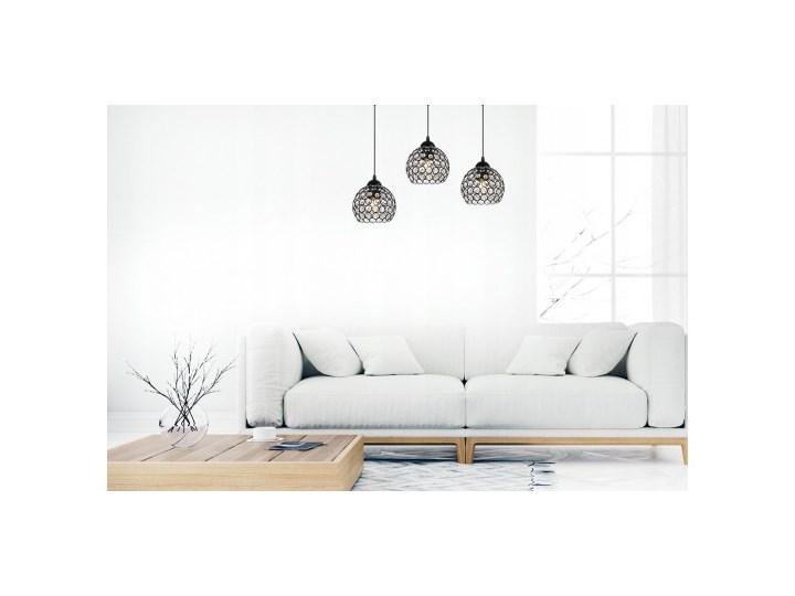 Nowoczesna Lampa Wisząca Szklana w Stylu Art-Deco Lampa z kloszem Lampa LED Ilość źródeł światła 3 źródła Metal Szkło Styl Nowoczesny