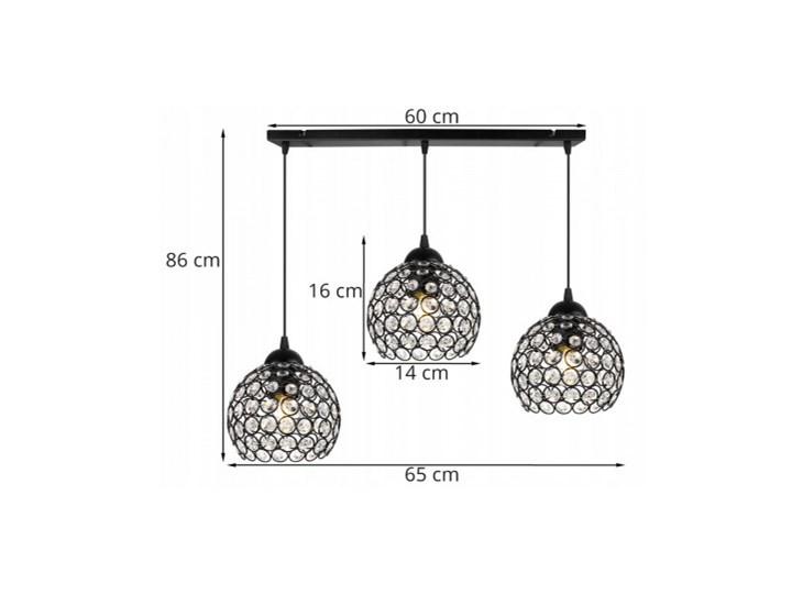 Nowoczesna Lampa Wisząca Szklana w Stylu Art-Deco Ilość źródeł światła 3 źródła Lampa z kloszem Lampa LED Szkło Metal Kategoria Lampy wiszące