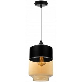 Nowoczesna Lampa Wisząca ze Szklanym Kloszem w Kolorze Miodowym