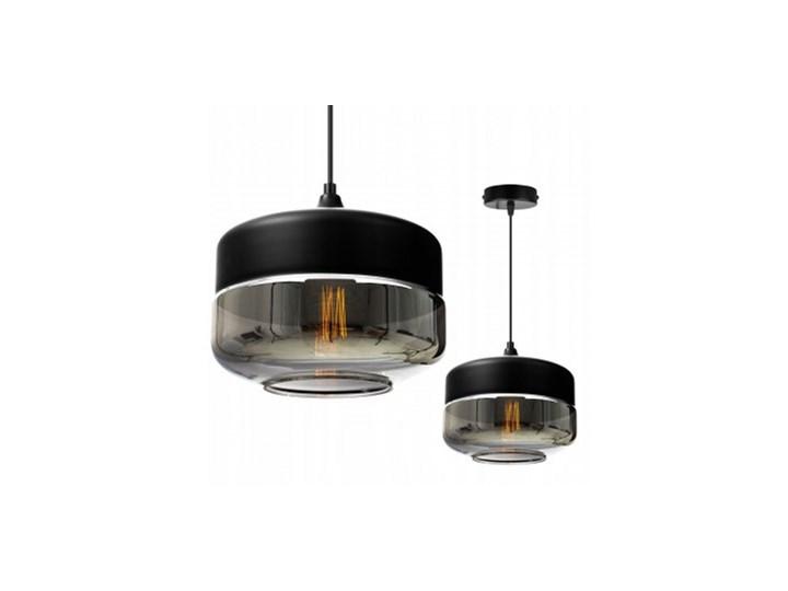 Nowoczesna Lampa Wisząca ze Szklanym Kloszem w Stylu Loft Szkło Metal Styl Nowoczesny Lampa z kloszem Lampa LED Styl Industrialny