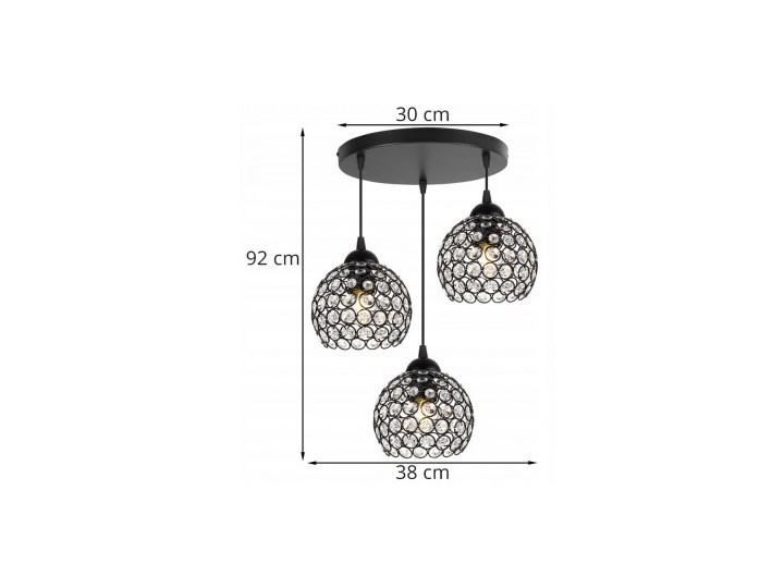 Nowoczesna Regulowana Lampa Wisząca z Metalu i Szkła Szkło Lampa LED Lampa z kloszem Ilość źródeł światła 3 źródła