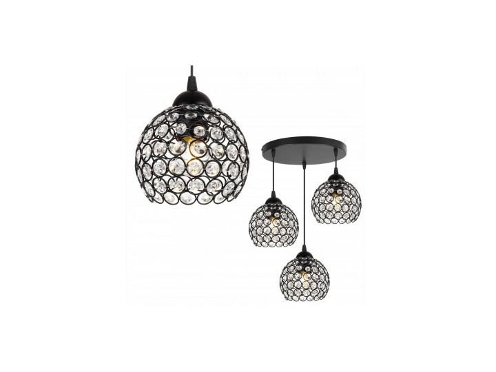Nowoczesna Regulowana Lampa Wisząca z Metalu i Szkła Lampa LED Lampa z kloszem Szkło Ilość źródeł światła 3 źródła