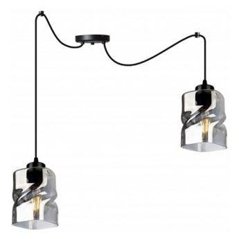 Regulowana Lampa Wisząca z Ciekawym Szklanym Kloszem