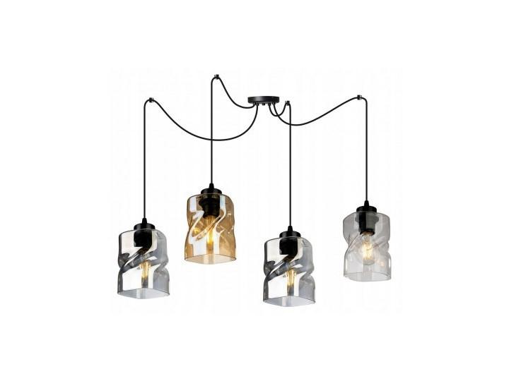 Lampa Wisząca Regulowana z Wyjątkowymi Kloszami ze Szkła Metal Szkło Lampa z kloszem Lampa LED Kategoria Lampy wiszące