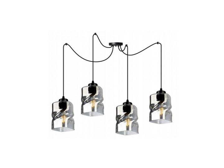 Lampa Wisząca Regulowana z Wyjątkowymi Kloszami ze Szkła Szkło Metal Lampa LED Lampa z kloszem Ilość źródeł światła 4 źródła