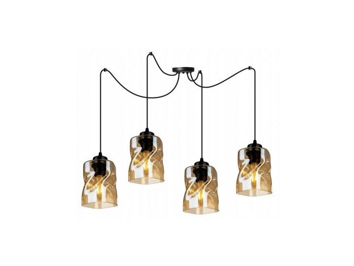 Lampa Wisząca Regulowana z Wyjątkowymi Kloszami ze Szkła Metal Lampa LED Lampa z kloszem Szkło Styl Nowoczesny
