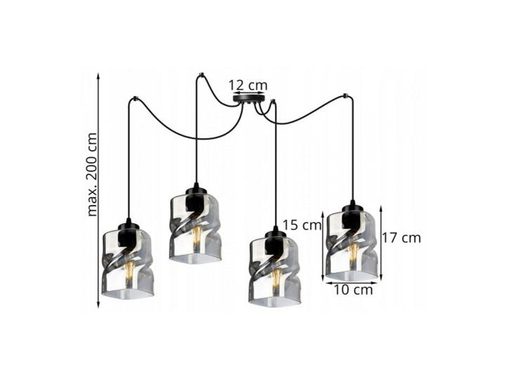 Lampa Wisząca Regulowana z Wyjątkowymi Kloszami ze Szkła Lampa LED Szkło Lampa z kloszem Metal Kategoria Lampy wiszące
