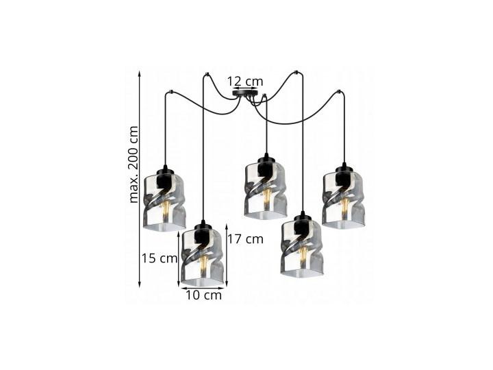 Loftowa Lampa Wisząca typu Pająk ze Szklanymi Kloszami Lampa pająk Ilość źródeł światła 5 źródeł Metal Lampa z kloszem Szkło Lampa LED Kategoria Lampy wiszące