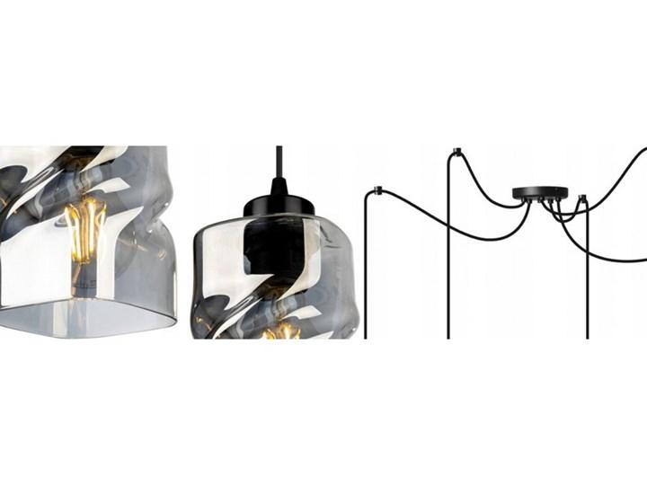 Loftowa Lampa Wisząca typu Pająk ze Szklanymi Kloszami Lampa pająk Lampa LED Lampa z kloszem Metal Szkło Ilość źródeł światła 5 źródeł