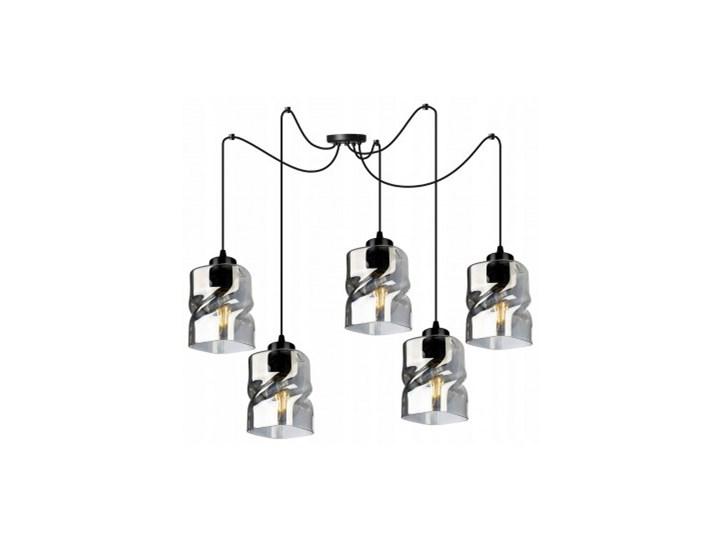 Loftowa Lampa Wisząca typu Pająk ze Szklanymi Kloszami