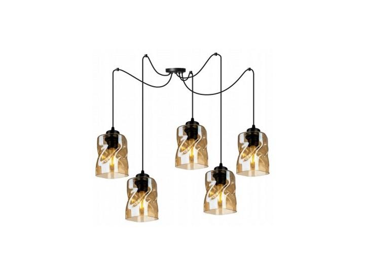Loftowa Lampa Wisząca typu Pająk ze Szklanymi Kloszami Metal Lampa z kloszem Lampa pająk Szkło Lampa LED Styl Nowoczesny