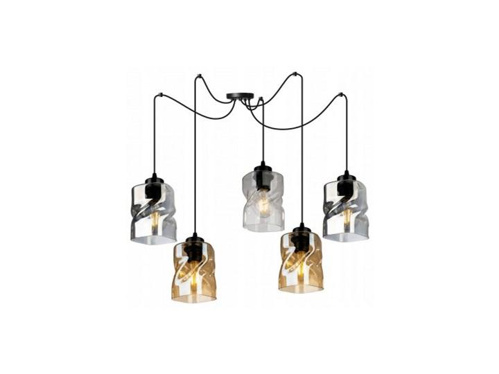 Loftowa Lampa Wisząca typu Pająk ze Szklanymi Kloszami Lampa LED Metal Lampa z kloszem Lampa pająk Szkło Styl Nowoczesny