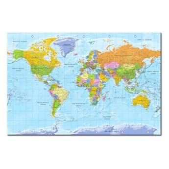 Tablica z mapą świata Bimago Orbis Terrarum 120x80 cm