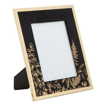Czarna ramka stołowa na zdjęcie Mauro Ferretti Glam, 15x20 cm