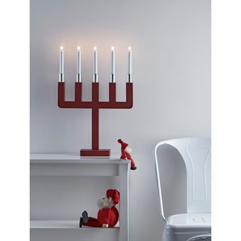 Czerwony świecznik Markslöjd Sundstorp, wys. 54 cm