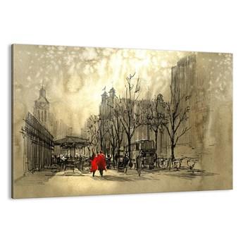 Obraz na płótnie - Randka w londyńskiej mgle