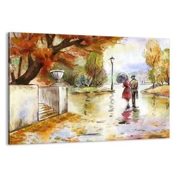 Obraz na płótnie - Romantyczna jesień w parku