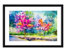 Obraz w ramie - Tęczowy ogród w wiosennym blasku