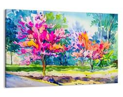 Obraz na płótnie - Tęczowy ogród w wiosennym blasku