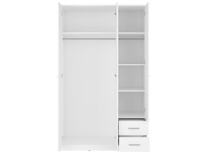 Szafa Nepo Plus - Kolor: Biały - Black Red White - BRW Drewno Tworzywo sztuczne Pomieszczenie Garderoba Kategoria Szafy do garderoby