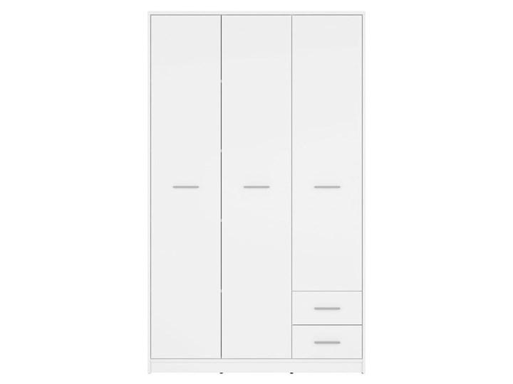 Szafa Nepo Plus - Kolor: Biały - Black Red White - BRW Pomieszczenie Przedpokój Drewno Tworzywo sztuczne Kategoria Szafy do garderoby
