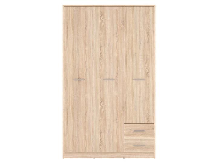 Szafa Nepo Plus - Kolor: Dąb Sonoma - Black Red White - BRW Drewno Tworzywo sztuczne Rodzaj drzwi Uchylne