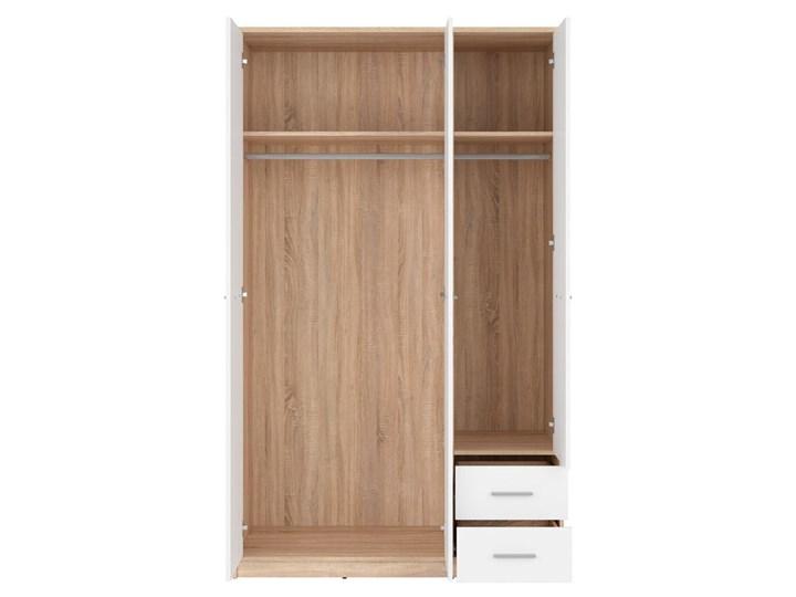 Szafa Nepo Plus - Kolor: Dąb Sonoma - Black Red White - BRW Tworzywo sztuczne Drewno Pomieszczenie Garderoba Lustro