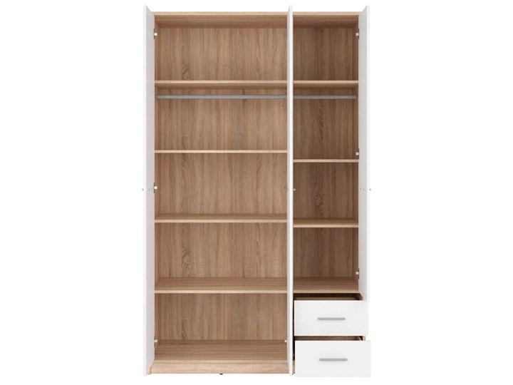 Szafa Nepo Plus - Kolor: Dąb Sonoma - Black Red White - BRW Tworzywo sztuczne Drewno Pomieszczenie Garderoba