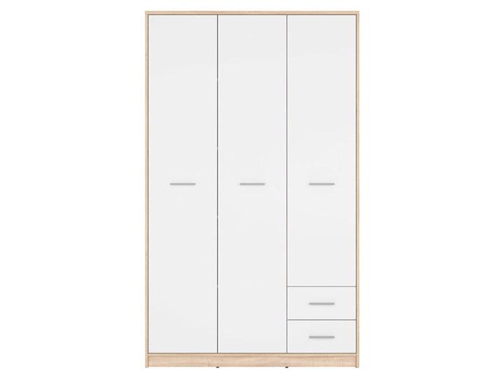 Szafa Nepo Plus - Kolor: Dąb Sonoma - Black Red White - BRW Typ Modułowa Tworzywo sztuczne Drewno Ilość drzwi Trzydrzwiowe