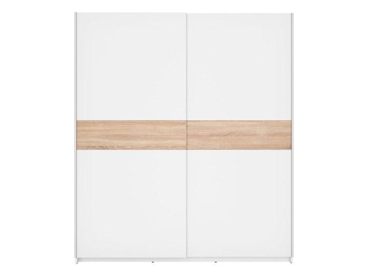 Szafa F27 170 - Kolor: Biały/Dąb Sonoma - Black Red White - BRW Drewno Metal Lustro Ilość drzwi Dwudrzwiowe