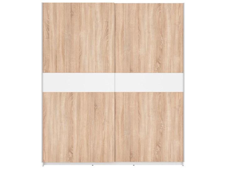 Szafa F27 170 - Kolor: Biały/Dąb Sonoma/Biały - Black Red White - BRW Metal Ilość drzwi Dwudrzwiowe Drewno Pomieszczenie Sypialnia