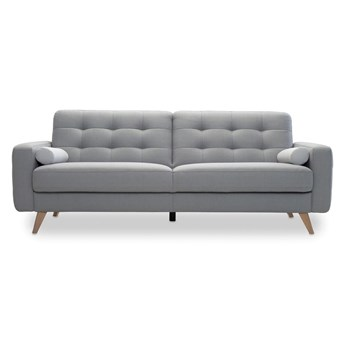 Sofa 3-osobowa Nappa - Rozkładana z funkcją spania - Kolor: Szary - Sweetsit