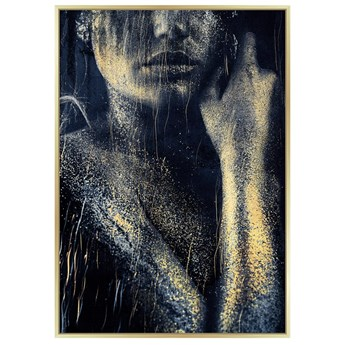 Obraz kobieta okraszona złotem 80 x 120 cm