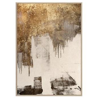 Obraz złota abstrakcja NURT 100 x 140 cm